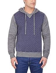 GAS Men's Fleece Sweatshirt (8059890909636_83454_Medium_194-Navy Blue)
