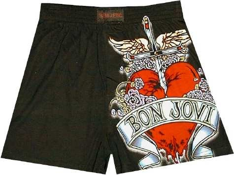 Buy Bon Jovi Logo / Tattoo boxer shorts for men