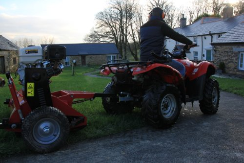 JDS All-rounder Atv/Quad Towed Trailed Flail Mower. 3 Engine options.