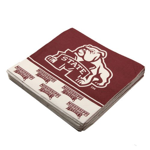NCAA Mississippi State Bulldogs 16-Pack Beverage Napkins - 1