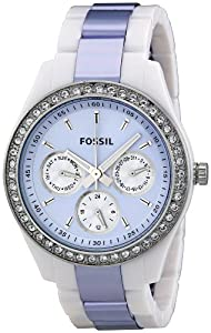 Fossil Women's ES2803 Stella Purple Dial Watch