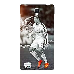 Jugaaduu Cristiano Ronaldo Real Madrid Back Cover Case For Redmi Note