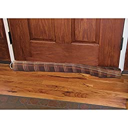 Heavy Duty Fleece Draft Blocker - Save Energy - Keep The Cold Out - 36-in (Brown Plaid)