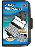 Delux 7 Day Pill Wallet Organiser Box Tablet Dose Reminder Storage