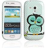 Voguecase TPU Silicone Shell Housse Coque Étui Protecteur Case Cover Pour Samsung Galaxy S3 III Mini i8190 (Somnolent Chouette)