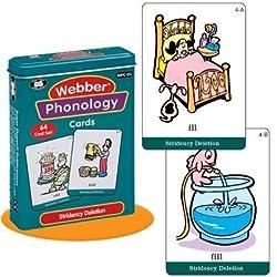 Webber Illustrated Phonology Stridency Deletion Minimal Pair Card Deck - Super Duper Educational L