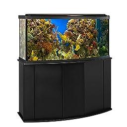 Aquatic Fundamentals 72 Gallon Bowfront Aquarium Stand, Black