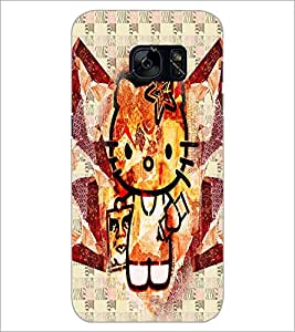 PrintDhaba Kitty D-4970 Back Case Cover for SAMSUNG GALAXY S7 (Multi-Coloured)
