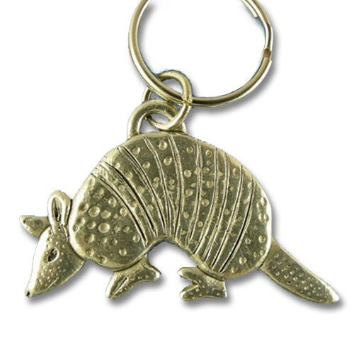 Pewter Armadillo Keychain by The Magic Zoo