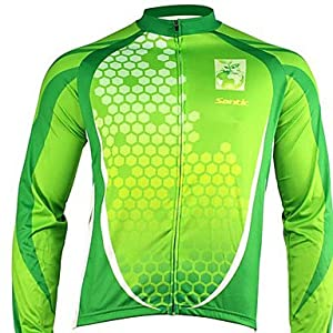 NEW-Santic - Mens Cycling Jacket With 100% Polyster Winter 2011 Green Color , M by ELCE Stock