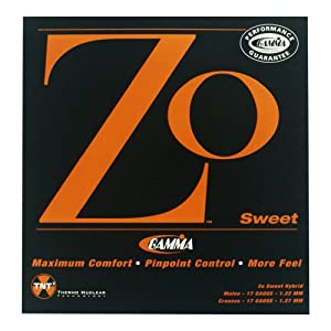 Gamma Zo Sweet 17G Tennis String, (M) White/(X) Yellow