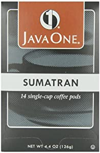Java One Sumatra Coffee, 14-Count Pods (Pack of 6)