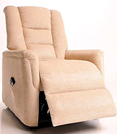 The Bradfield Riser Recliner Chair in Fabric. Single Motor, easy-clean lift and tilt rise chair. Two colours available - mink and beige (Beige)
