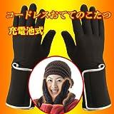 サンアート コードレスおててのこたつ ヒーター付きインナー手袋 充電池タイプ(男女兼用)Mサイズ