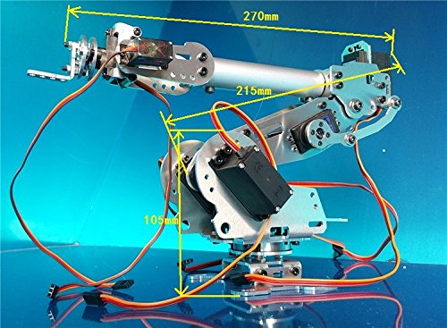 Abb Industrial Robot Mechanical Arm 100% Aluminum Alloy Manipulator 6-Axis Robot arm Rack with 7 Servos (Robot Abb compare prices)