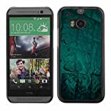Shell-Star ( Abstract Green Glow ) Snap On Hard Protective Case For All New HTC One (M8)