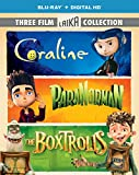 The Boxtrolls, ParaNorman, Coraline Triple Feature (Three-Disc Blu-ray: Blu-ray + DIGITAL HD with UltraViolet)