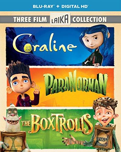 Three Film Laika Collection (Coraline / ParaNorman / The Boxtrolls) (Blu-ray + Digital HD)