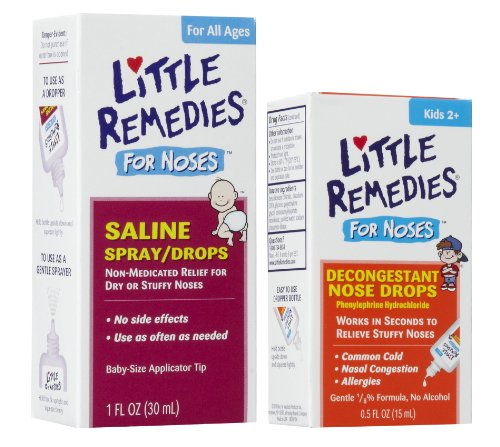 Little Remedies Saline Spray/Drops For Stuffy Noses With Decongestant Drops front-876485