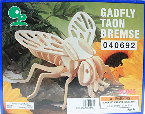 Gadfly Balsa Wood 3D Insect Puzzle - 1
