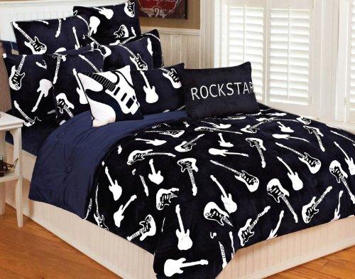 musical themed bedding and bedroom decor. Black Bedroom Furniture Sets. Home Design Ideas