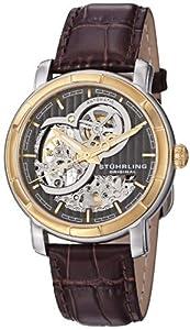 Stuhrling Original Men's 169.33GK59 Delphi Automatic Skeleton Grey Dial Watch