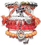 CAT HAMMILL ( キャットハミル ) オーストラリア の ポジティブ ブレスレットセット orange red silver bracelet set レッド マルチ シルバー ブレスレット ポーチ ゲット 海外 ブランド