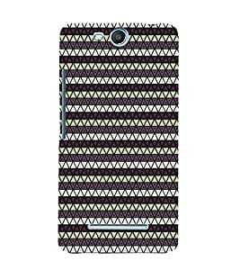 PrintVisa Corporate Print & Pattern Triangles 3D Hard Polycarbonate Designer Back Case Cover for MicromaxBoltQ338