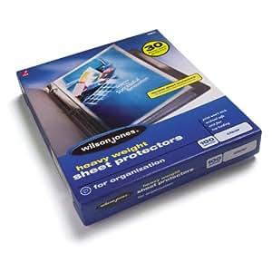 Wilson Jones Heavy Weight Top-Loading Sheet Protectors, Clear, 100/Box (W21411)