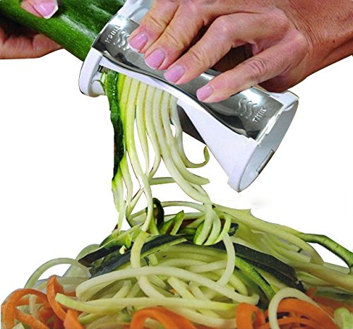 VAlinks(TM) Kitchen Must-have Accessory - High Quality Spiral Vegetable Slicer, Perfect Veggie Pasta/Spaghetti Maker - a Safe and Fast Solution to Slice Vegetable Without Worrying About Cutting Your Fingers (Wheat Cutting Machine compare prices)