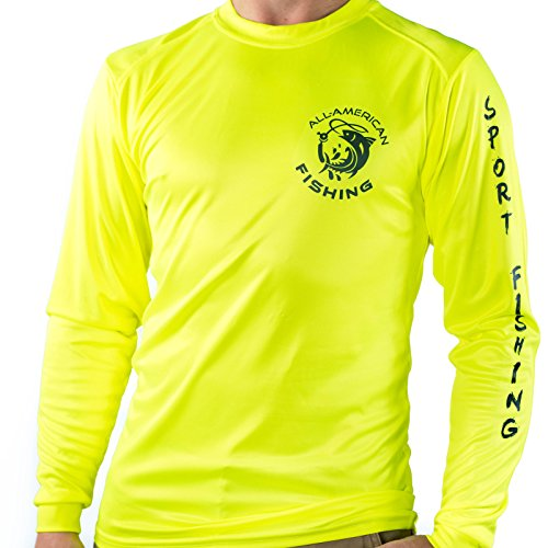 All american fishing performance dri fit shirt men 39 s for Long sleeve fishing shirts