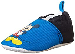 Disney Mickey Mouse Crib Shoe (Infant), Blue,6-12 Months M US