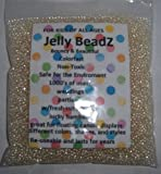 8oz -Almost 15,000 Jelly BeadZ® Water Bead Gel - CLEAR- Heat Sealed Bag- Water Pearls Gel Beads- Wedding & Event Centerpieces