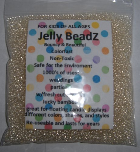 8oz -Almost 15,000 Jelly BeadZ® Water Bead Gel - CLEAR- Heat Sealed Bag- Water Pearls Gel Beads- Wedding & Event Centerpieces (Small Jelly Beads compare prices)