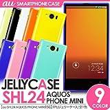 AQUOS PHONE SERIE mini SHL24 ジェリーケース/スマホケース/スマホカバー TPUケース アクオスフォン セリエ ミニ/au (ブラック)