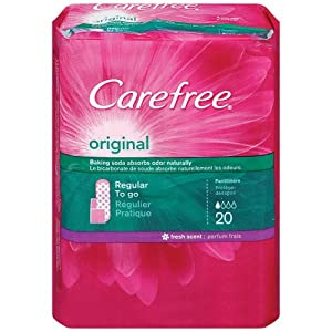 CAREFREE® Original Pantiliners Regular To Go Scented With Baking Soda 8/20ct