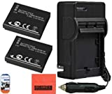 Pack of 2 DMW-BCM13E Batteries and Battery Charger for Panasonic Lumix DMC-TS5 DMC-ZS30 Digital Camera + More!!