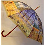 """Sunlight Under the Poplars"" by Monet Full Size Stick Art Umbrella with Automatic Push Button Opening, Great Gift Idea ~ Fine Art Umbrellas"