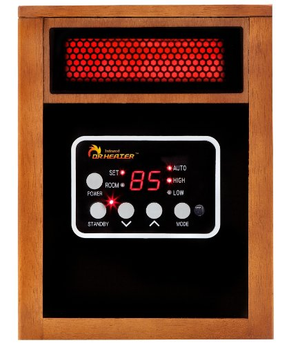 Dr Infrared Heater Quartz + PTC Infrared Portable Space Heater - 1500 Watt, UL Listed , Produces 60% More Heat with Advanced Dual Heating System.