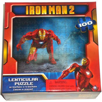 Iron Man 2 100 piece Lenticular puzzle 12 x 9 inches (Flying)