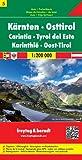 Carte routière : Kärnten, Osttirol, mit Ortsverzeichnis und Postleitzahlen