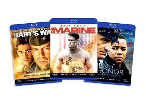 Blu-ray War Bundle, Vol. 4 (Men of Honor / Hart's War / The Marine) (Amazon.com Exclusive)