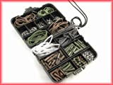 Carp Fishing Tackle Box Bundle. Includes pocket tackle box, hooks, swivels, shrink and rig tube, lead clips and cones, and shock beads.