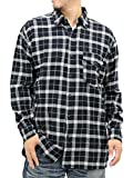 (エドウィン) EDWIN 大きいサイズ メンズ シャツ ネルシャツ 長袖 2color 3L ブラック