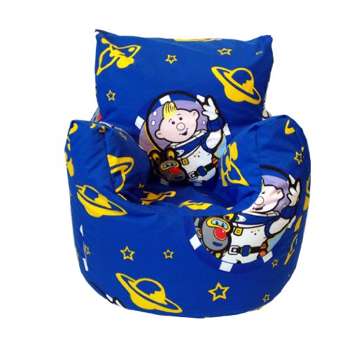 Childrens Bean Chair in Lunar Jim Design, Available in Various Childrens Designs