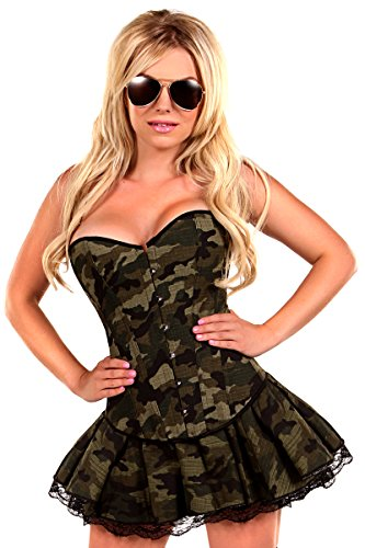 Daisy Corsets Women's 3 Piece Sexy Army Girl Costume