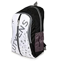 Lutyens Black White Grey Casual School Bags (22 Liters)