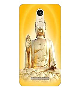 PrintDhaba Lord Buddha D-3306 Back Case Cover for XIAOMI REDMI NOTE 3 PRO (Multi-Coloured)