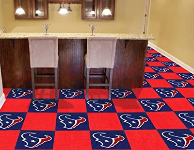 "NFL - Houston Texans Carpet Tiles 18""x18"" tiles"
