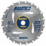 IRWIN Tools MARATHON Carbide Cordless Circular Saw Blade, 6 1/2-inch, 20T (24021) (Tamaño: 6-1/2